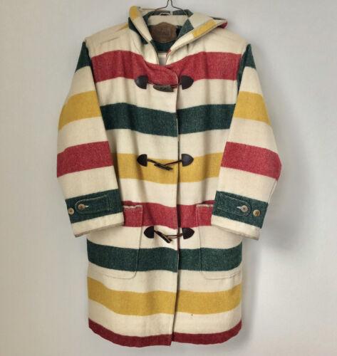 Vintage Woolrich Hudson Bay Toggle Coat Jacket Lin