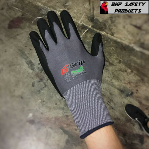 CHOOSE YOUR SIZE 12 PAIR LIBERTY G-GRIP WORK GLOVES FOAM NITRILE PALM F4600