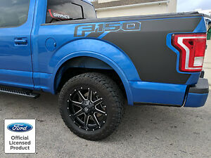 NEW FORD F BED GRAPHICS W LOGO SIDE DECAL VINYL - Truck bed decals customford f vinyl graphics for bed fender