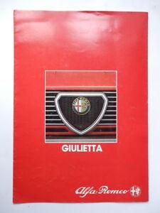 AUTO-CAR-ALFA-ROMEO-GIULIETTA-vecchia-brochure-vintage