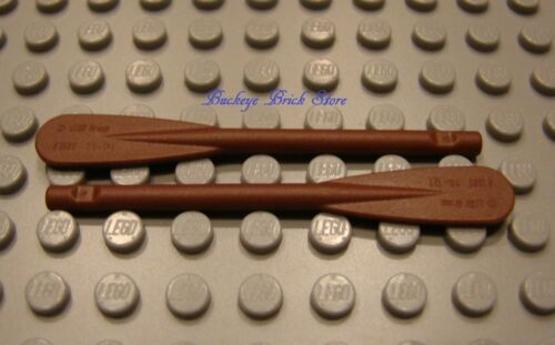 LEGO Pair of Reddish Brown Minifig Paddle Reinforced Oar