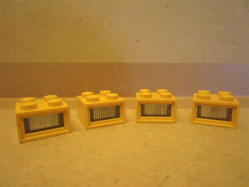 Lego Eisenbahn Technic 4 x Leuchtstein gelb 4,5 V Beleuchtung zB Bahnsteig