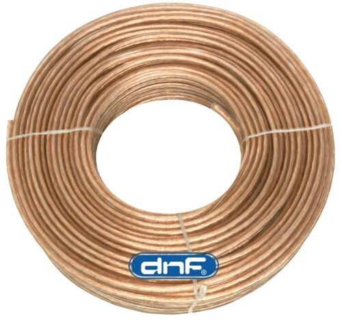 FREE PRIORITY SHIPPING TODAY! DNF 16 Gauge Clear Flex Speaker Wire 100 Feet