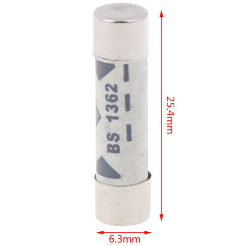 10pcs British Fuses BS1362 Filling sand Riot Ceramic fuse 6x25mm 1A to 20A NWUS