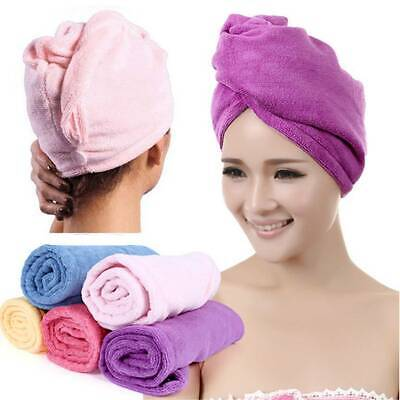Rapid Fast Drying Hair Absorbent Towel Cap Turban Wrap Soft Thick Shower Hat