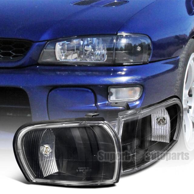 For 1995 2001 Subaru Impreza WRX Corner Lamps Signal Lights Black