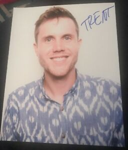 TRENT HARMON SIGNED 8X10 PHOTO AMERICAN IDOL D W/COA+PROOF RARE WOW