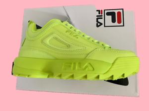 Détails sur NEW IN BOX * Fila Disruptor II PREMIUM Sneaker * JAUNE FLUO * Taille 6 6.5 7 7.5 8 8.5 9 10 afficher le titre d'origine