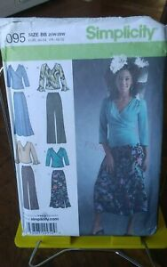 Oop-Simplicity-4095-misses-stretch-knit-tops-pants-skirt-loose-sz-20-28-NEW