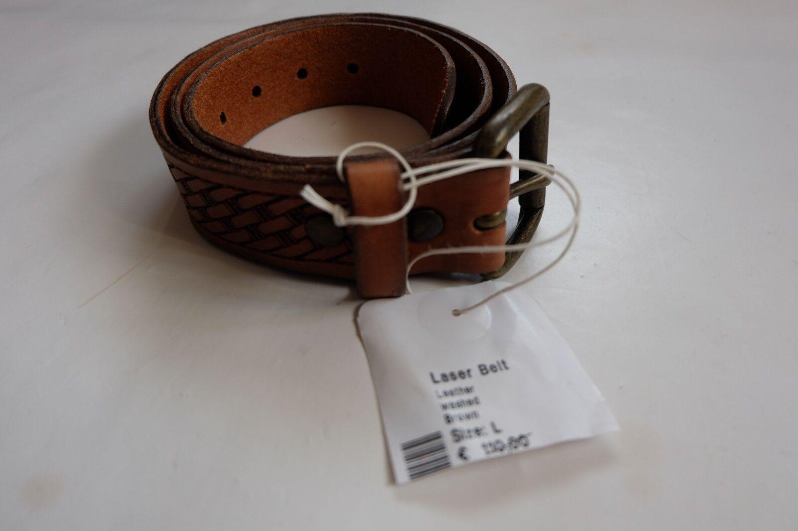 834dc8be8f9b Ceinture Edwin Laser Belt Leather Washed Brown Taille L 95cm   eBay