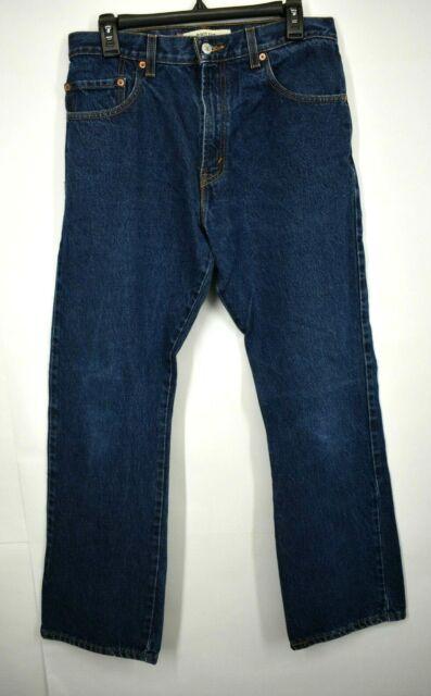 Levi Strauss & Co. Mens Blue Boot Cut 5-Pocket Comfort Cotton Denim Jeans 32/30