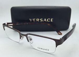 2c9c79c8c1 New VERSACE Eyeglasses VE 1184 1269 53-18 Semi-Rimless Brown Havana ...