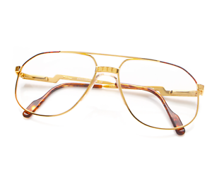 Vintage-Hilton-Exclusive-024-C2-Pilot-Eyeglasses-Optical-Frame-Eyewear-Lunettes