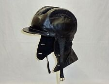 VINTAGE RETRO LEATHER MOTORCYCLE SCOOTER MOTOR SUMMERRIDER HELMET HOOD HAT RARE
