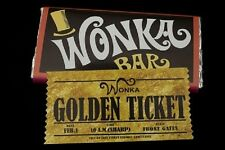A4 WONKA BAR AND TICKET (image) ON EDIBLE ICING SHEET BIRTHDAY CAKE TOPPER