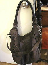 TREESJE Marley Taupe leather studded hobo purse bag Retail $635