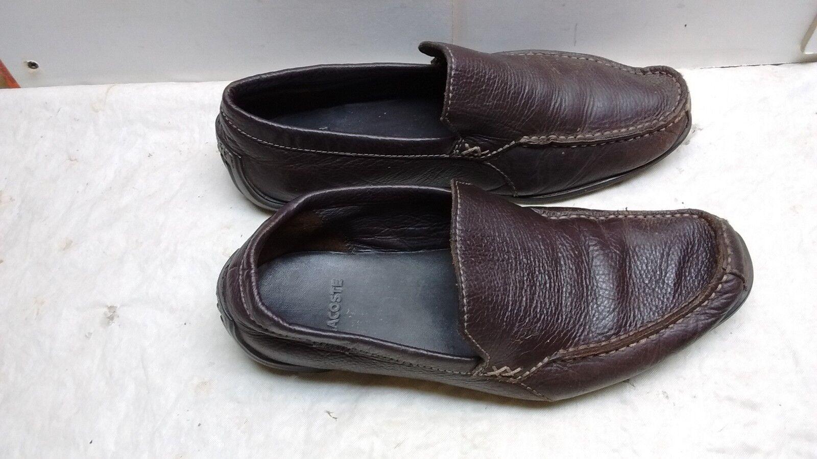 Lacoste Argon Lexi 2 Braun Leder Loafer Apron Toe Slip 10M On Driving Men Schuhe 10M Slip c5f0aa