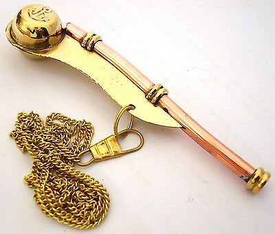 Bosun's pipe - Boatswain's Whistle Copper & Brass