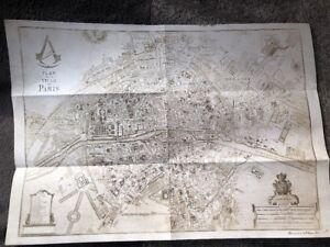 Assassins Creed Paris Map A3 Size Official Ubisoft Promo Ps3 Ps4