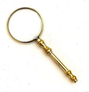 Vintage-Antique-Solid-Brass-Pocket-Magnifying-Glass-Map-reading-Magnifier
