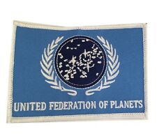 Star Trek TNG United Federation of Planets UFP Flag Embroidered Iron On Patch