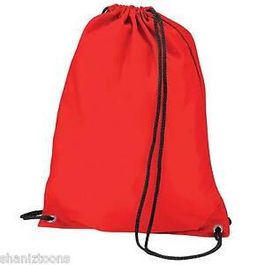 9c0126b15d3c x10 Red Drawstring Gym Sports School PE Bag Bulk Buy Job Lot