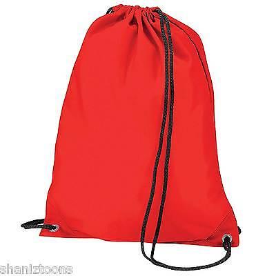 x10 Fuchsia Pink Drawstring Gym Sports School PE Bag Bulk Buy Job Lot Clothes, Shoes & Accessories Bags