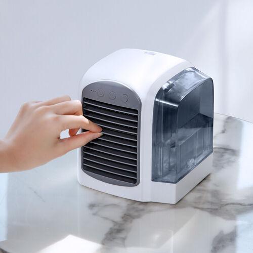 MINI Desktop Aria condizionata Refrigeratore ACQUA FREDDA VENTOLA USB Umidificatore Aria Luce a LED