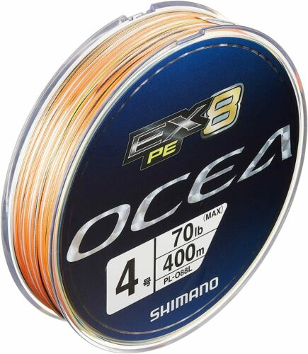 SHIMANO PE Line OCEA EX8 PE #4 70.0 lbs 400m PL-088L Fishing Line Japan