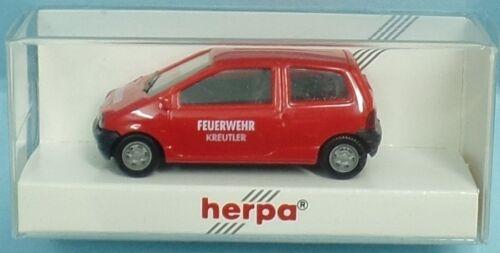 HERPA Nr.080026 Renault Twingo Feuerwehr-Dienstwagen /'FW KREUTLER/' OVP
