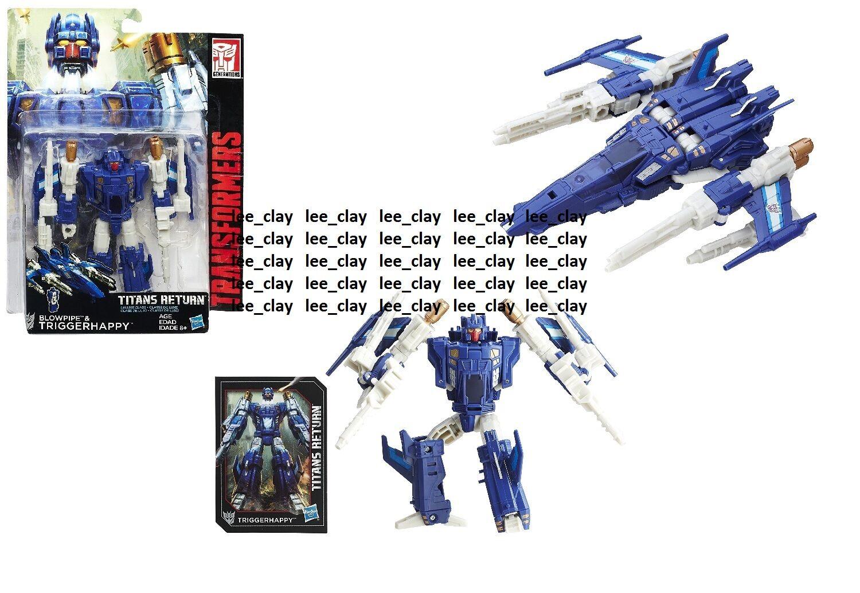 Transformers Titans Return Deluxe Class Blowpipe Blowpipe Blowpipe & Triggerhappy NEW  Jet Fighter c287c0