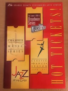 Details about Orange County Performing Arts Center's 1996-97 Broadway  Series Brochure