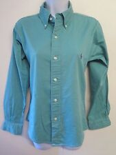 Genuine Vintage Ralph Lauren POLO Ladies Green Blouse Size M UK 8 Euro 36