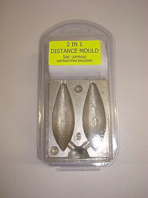 LONG CASTING SHAPED WEIGHT 2 IN 1 DISTANCE CASTING  MOULD 5 OUNCE approx