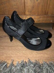 Dkny-senoras-impresionante-Negro-Tacones-Zapatos-Talla-EE-UU-6-5-Reino-Unido-4