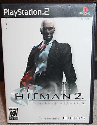 Playstation 2 Black Label Hitman 2 Silent Assassin Ps2 Complete
