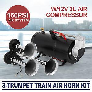 train luft horn kit mit 12v 150psi luft kompressor pro. Black Bedroom Furniture Sets. Home Design Ideas