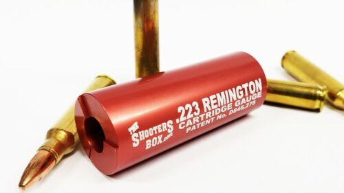 Free Shipping! Patented Design ! 223 Remington Case /& Ammunition Gauge