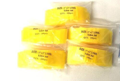 Yellow Tint  Zip Lock Bag ZipLock Bags 1010 Baggies Top Quality 500 1x1