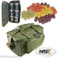 Ngt Carp Fishing Tackle Bag Holdall 537 + Glug Bag With 6 Pots + Carp Boilies