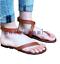thumbnail 1 - New-Women-Gladiator-Thongs-Shoes-Strappy-Roman-Beach-Sandals-Flats-Shoe-Summer-B