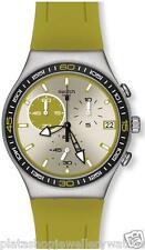 Swatch Watch YCS565 NEW Green Wink Irony Chronograph Gift Original