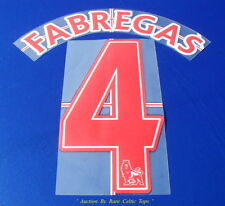 Lextra Sporting ID Arsenal Player Issue ' Fabregas 4 ' Away Name & Number Set