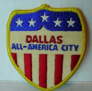 Dallas-All-America-City-Patch-1970-RARE-Texas-Red-White-and-Blue