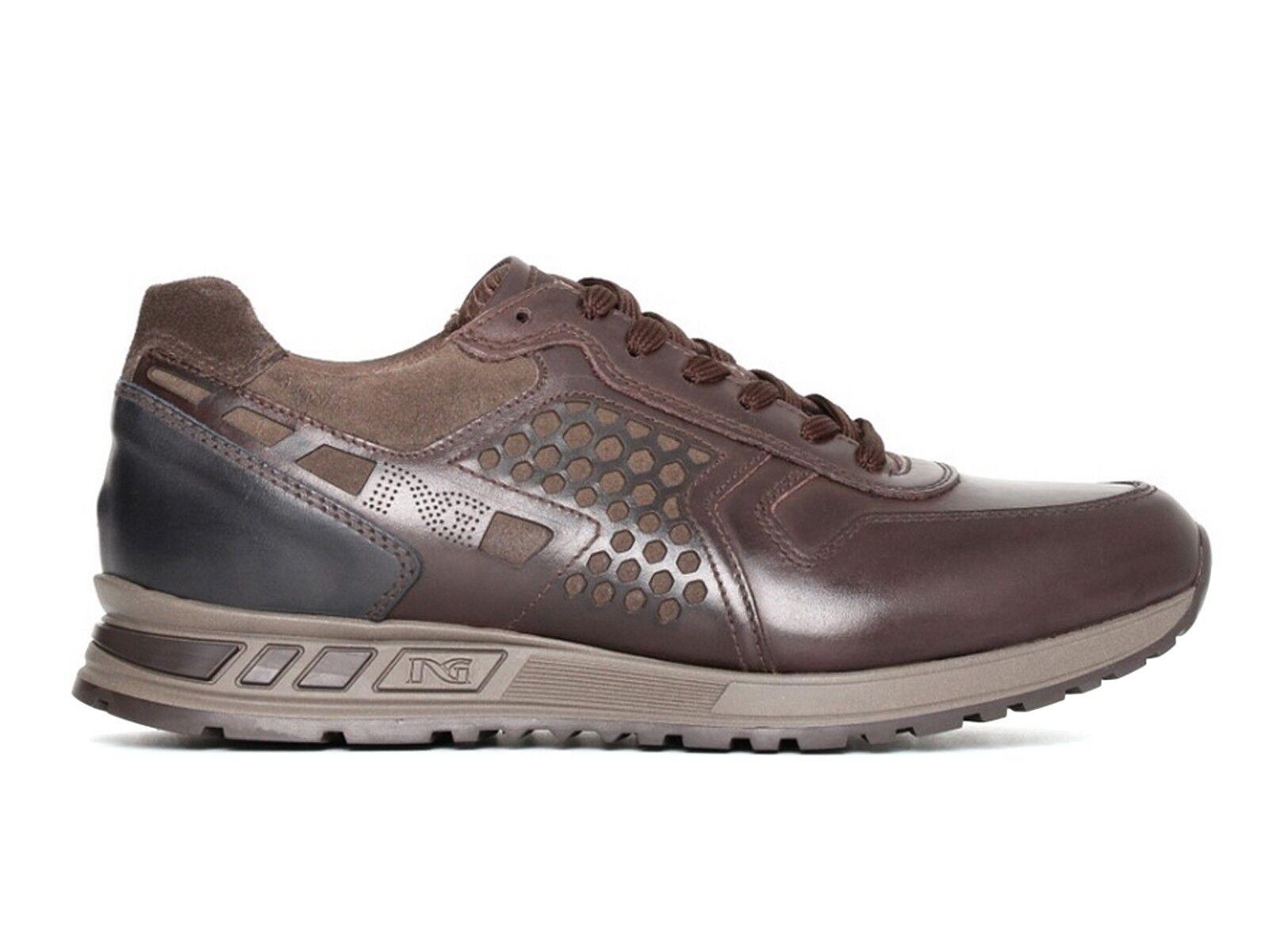 shoes men black GIARDINI INVERNO A705340U 301  SNEAKERS CAFFE