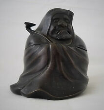 Rare Antique Chinese Bronze Figural Censer,of Jurojin w/ Staff