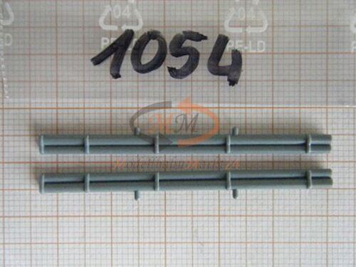 10x ALBEDO Ersatzteil Ladegut Schlauchhalterung Silo grau 1:87-1054
