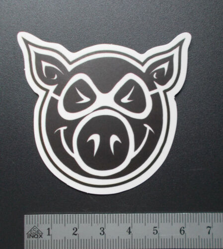 "Sticker autocollant mat-Optik /""Lucky pig/"" ordinateur portable smartphone stickerbomb..."