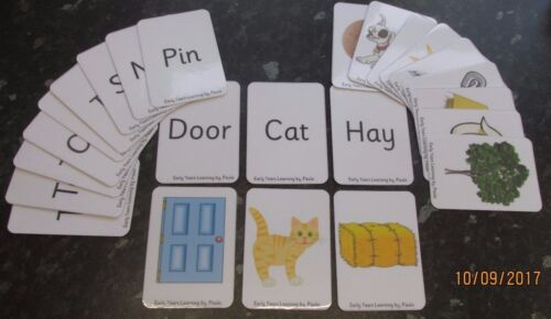 Matching picture and word cards OR can use for SNAP  All 10cm x 7cm from £5.95