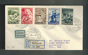 Image Is Loading 1949 Reykjavik Iceland First Day Cover Fdc To
